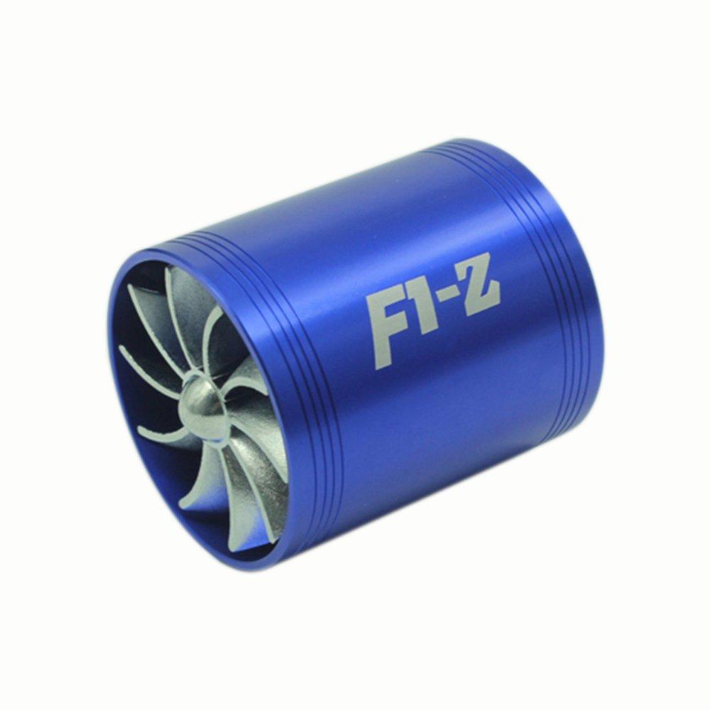 KKmoon Épargnant de Gaz Carburant Universel Filtre à Air Prise Simple / Double Suralimentation Turbine Turbo Fan
