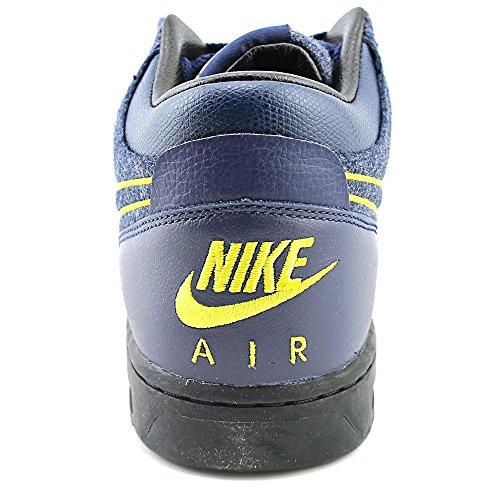 Chaussure De Basket-ball Mi-haut Nike Mens 685150 Mi-marine / Mid-navy-metallic Gold-black