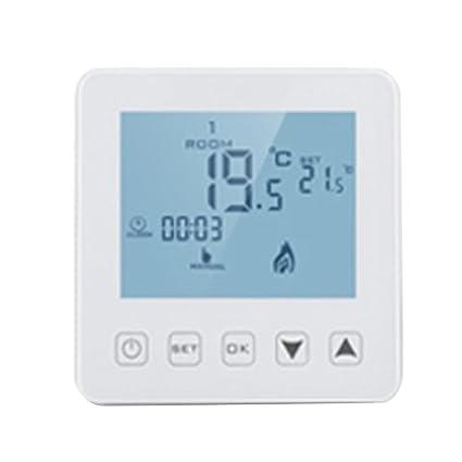 Baoblaze Termostato Inteligente de Control de Temperatura WiFi Pantalla Táctil
