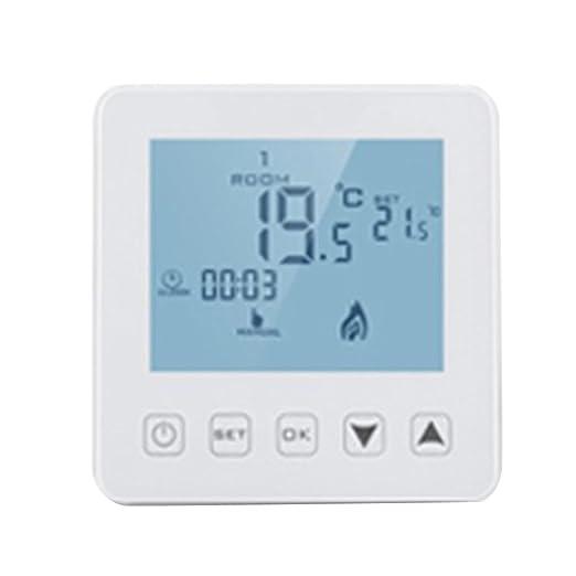 Baoblaze Termostato Inteligente de Control de Temperatura WiFi ...