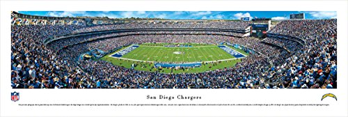 San Diego Chargers   50 Yard Line At Qualcomm Stadium   Panoramic Print
