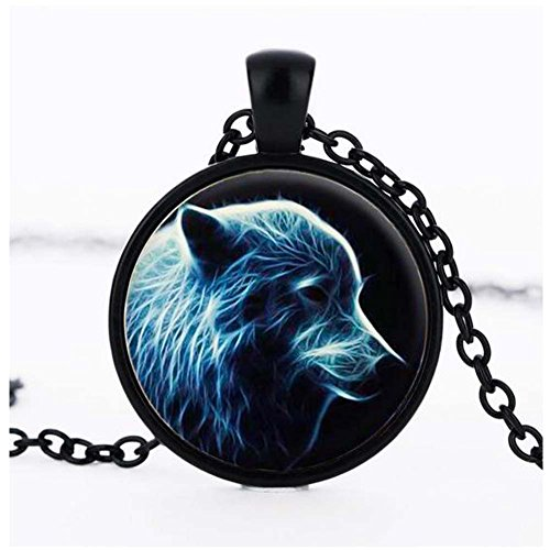 Christmas GERGER BO Animal Time Gemstone Pendant Necklace Glass Sweater Chain (Color3)