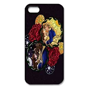 Mystic Zone Classic Cartoon Beauty and the Beast Case for iPhone 5 Hard Back Cases Cover Fits Case WSQ0974