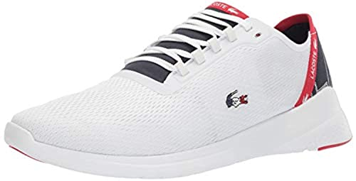 a522b229bc4e0 Amazon.com   Lacoste Men's LT Fit 119 5 SMA Shoes White/Navy/Red 8.5 ...