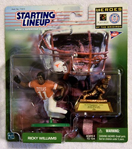 Hasbro 1999 Starting Lineup RICKY WILLIAMS Heroes of the Gridiron Football SLU