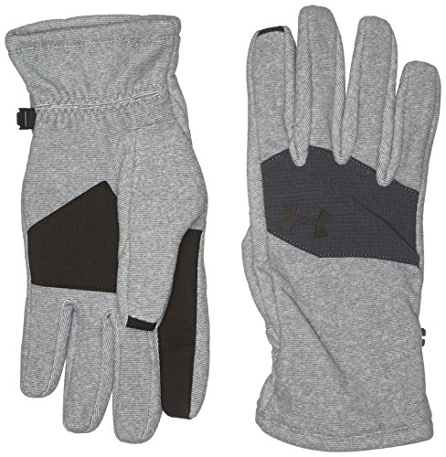 - Under Armour Men's UA Core Fleece Glove Steel/Stealth Gray/Black LG