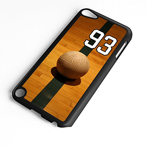 iPod Touch Case Fits 6th Generation or 5th Generation Volleyball #7800 Choose Any Player Jersey Number 93 in Black Plastic Customizable by TYD Designs