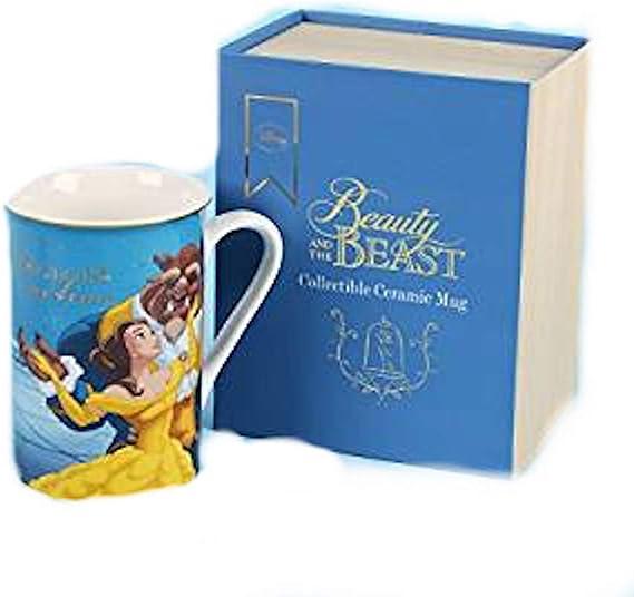 Taza de La Bella y la Bestia de Disney con caja de regalo: Amazon ...
