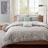 5 Pc Blue, Beautiful Comforter Set King/Cal King Size,Master Bedroom – Ultra Soft Microfiber Bedroom Comforters