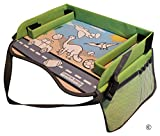 baby snug play tray - Kids Travel Tray with EXCLUSIVE Storage Containers on the Surface by TRAVEL IN SANITY.  The Ideal Activity, Car Seat, Stroller, Play or Snack Tray for Toddlers. Padded Firm Surface, Sturdy Side Walls.
