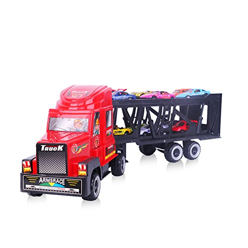 Car-Transporter-Toy-Truck-for-Kids-and-Toddlers-Include-12-Metal-Slideable-Cars-with-Handle-Gift-Package
