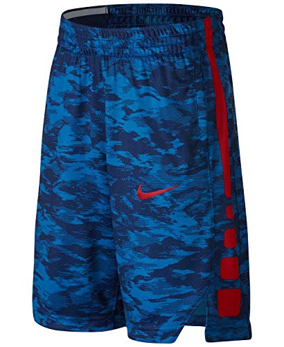 NIKE Boys' Dry Elite Stripe Basketball Shorts (Medium, Blue Camo - Basketball Shorts Cloth
