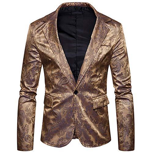 La Fin Elegante Casual Estilo Slim Oro Curso Smoking Diseño Modernas Chaqueta Los Del Paisley Blazer De Fit Hombres Baile Boda TTSpwg