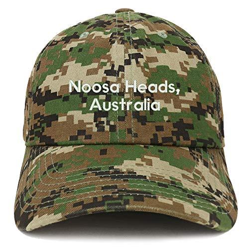 Trendy Apparel Shop Noosa Heads Australia Embroidered Cotton Dad Hat - Digital Green Camo