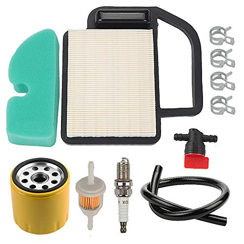 Mckin KH-20-083-02-S KH-20-883-02-S1 Air Filter + KH-52-050-02-S KH-52-050-02-S1 Oil Filter Tune Up Kit fits Cub Cadet LT1042 LT1045 LTX1040 LTX1042 LTX1045 RZT42 Toro 98018 LX420 LX460 Lawn Mower ()