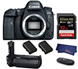 Canon EOS 6D Mark II DSLR Camera (Body Only) (USA Warranty) + Canon BG-E20 Battery Grip + 2 Spare Batteries + 32GB Extreme PRO Memory Card Review