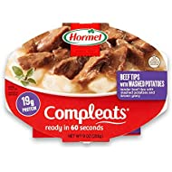 Hormel Compleats Beef Rib Tips with Mashed Potatoes and Gravy, 9 Ounce