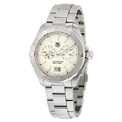 Aquaracer Silver Dial - Tag Heuer Aquaracer Chronograph Silver Opalin Dial Stainless Steel Mens Watch WAY111Y.BA0928