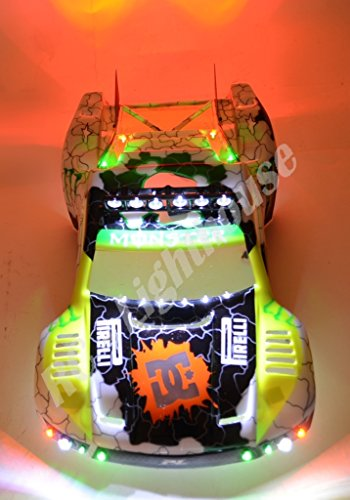 (Traxxas RPM Black Light Bar 6 LEDs for Slash E-Revo E-maxx Stampede 4x4 2WD Ultimate LED Light Set. Will fit SC10 or other SC vehicles #18 (Body Not Included))