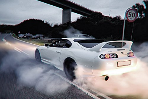 Toyota Supra Drifting Car Silk Poster 36x24 Inches by TST IN