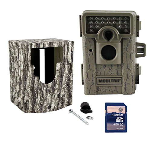 MOULTRIE M-550 Low Glow Infrared Trail Game Mini Camera  Security Box  SD Card