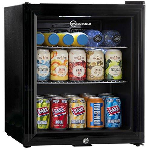 Subcold Super50 LED – Mini Fridge Black | 49L Beer, Wine and Drinks...