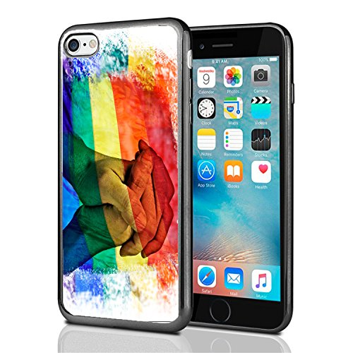 Rainbow Flag Equal Rights for iPhone 7 (2016) & iPhone 8 (2017) Case Cover by Atomic Market
