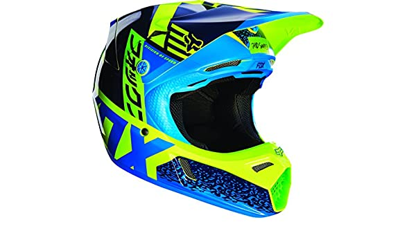 Amazon.es: Fox Racing Divizion juventud V3 Motocross casco de moto - azul/verde