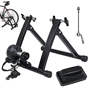 Akonza Pro Bicycle Trainer Work Out with 7 Levels of Resistance, Indoor Train, Black