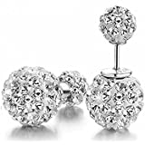 Hotshopping Fashion Jewelry Shamballa 925 Sterling Silver Double Sided Balls Stud Earrings 10mm