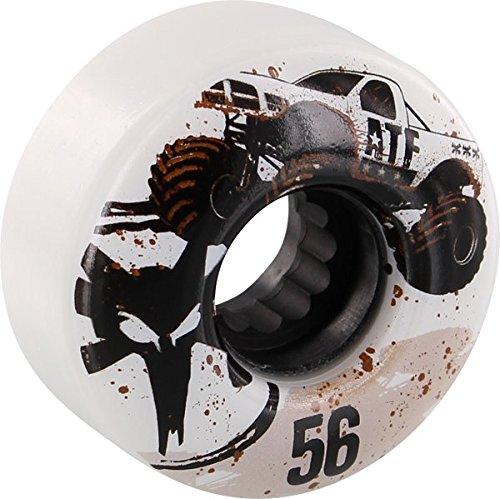 Bones Wheels ATF Mudder Fudder 56mm White Skateboard Wheels (Set of 4)