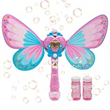 CREFUN Magic Bubble Wand Bubble Blower SB9321 Musical Light Up Bubble Blaster Safe Durable Simple Handheld Bubble Machine Bubble Toys for Girls Party Favors Birthday Including 2 Bubble Solution