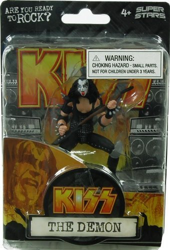 Rainbow Concepts Kiss 4.5 Inch Action Figure Gene Simmons The Demon by Rainbow Concepts