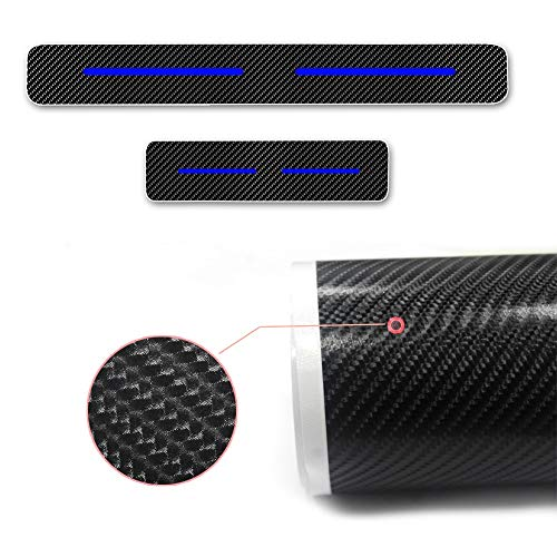 Car Door Sill Door Entry Guard Car Door Entry Protectors car accessories 4D Carbon Fiber 4Pcs For Peugeot 206 207 307 308 3008 407 408 508