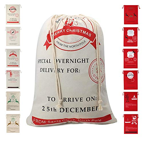Christmas Bag Santa Sack Canvas Bag For Gifts Santa Sack Special Delivery Extra Large Size 27.6