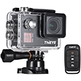 ETbotu Waterproof Sport Video Camera ThiEYE T5Edge 4K Action Camera Wifi 14MP Ultra-HD 2 IPS Screen 170 Wide Angle Camera