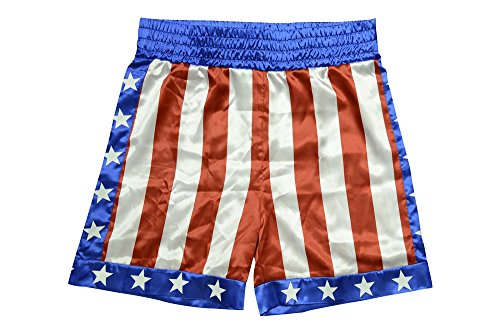 [Trick or Treat Studios Men's Rocky - Apollo Creed Boxing Trunks, Red/White/Blue, One Size] (Trick Or Treat Costumes For Adults)