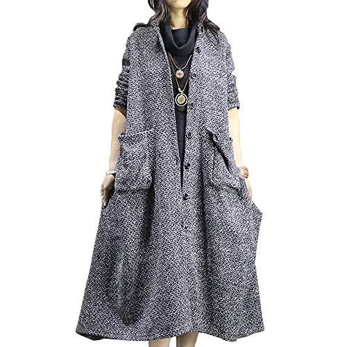 Inverno Sciolto Capispalla Grey Cardigan Vento A Liulife Di Lana Irregolare Donna Autunno Size Large Retro Per Cappotto Scialle S0nOxqAB