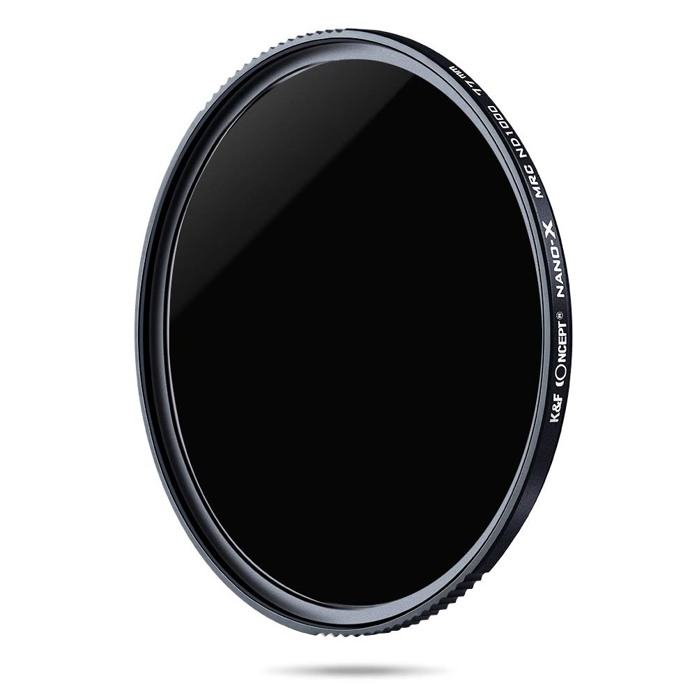 K&F Concept 77MM Neutral Density Lens Filter 10 Stops ND 1000 Filter Multi-Coated Optical Glass Neutral Grey ND Lens Filter with Multi-Resistant Nano Coating for Nikon Canon DSLR Camera Shenzhen Zhuoer Photograph CAKF01.977