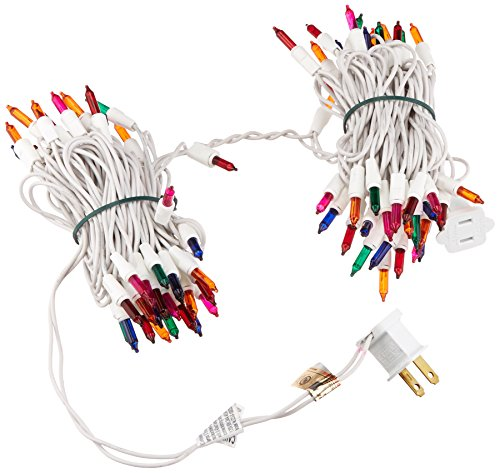 Noma/Inliten 100-count Multi Color Christmas Light Set White Wire