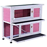 Lovupet 40inch 2-Story Wooden Rabbit Hutch Small
