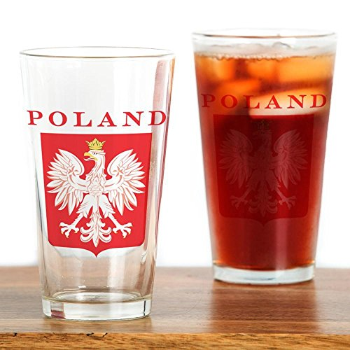 CafePress Poland Eagle Red Shield Pint Glass, 16 oz. Drinking Glass