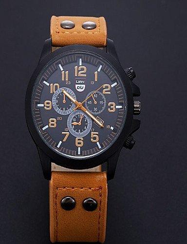 Para hombre de lujo de relojes liandu tipo Marca Deportes Relojes 2015 reloj de cuarzo beiläufige Hombres Militares impermeable reloj de piel, ...