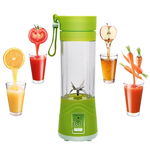 Cheap Personal Size Blenders, BORUD 380ml Juice Cup Blender Mini Blender Water Bottle Portable USB Fruit Mixing Machine Healthy Fresh Fruit Blender with 6 Pieces Upgrade Strong Blades【2 Year Warranty】