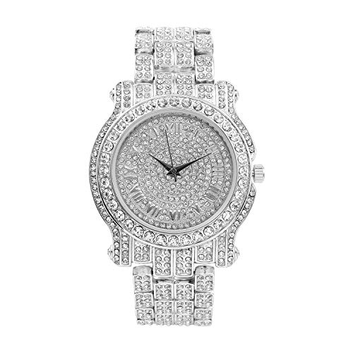 Bling-ed Out Ultimate Silver Hip Hop Royalty Watch - L0504 Silver (Best Baby Shops In Singapore)