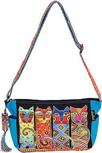 Laurel Burch Feline Clan Crossbody Cat Tote Handbag Purse