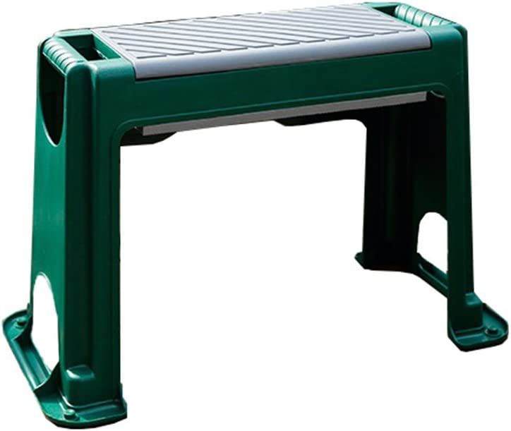 Garden Kneeler Seat for Outdoor Gardening & DIY Foam Padded Multi Use Knee Pad with Tool Storage Box, Green