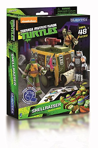 Zoofy International Teenage Mutant Ninja Turtles Paper Craft Shellraiser Vehicle Pack -