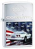 Zippo Lighter Chevy Corvette 1984 Brushed Chrome