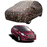 MotRoX Car Body Cover for Honda Amaze with Side Mirror Pocket (Military Color)